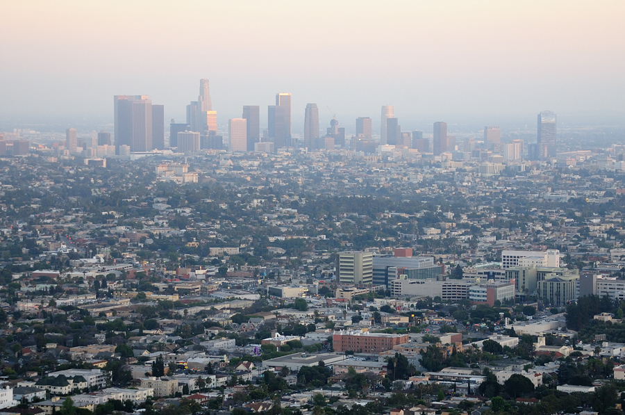 Вид с Грифис парка в Лос Анджелесе