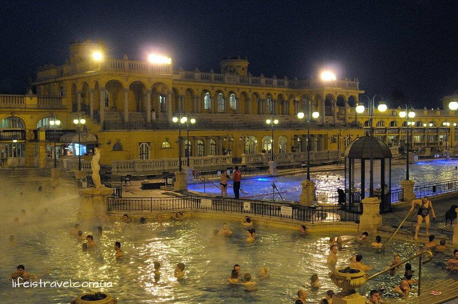 купальня Сечени вечером