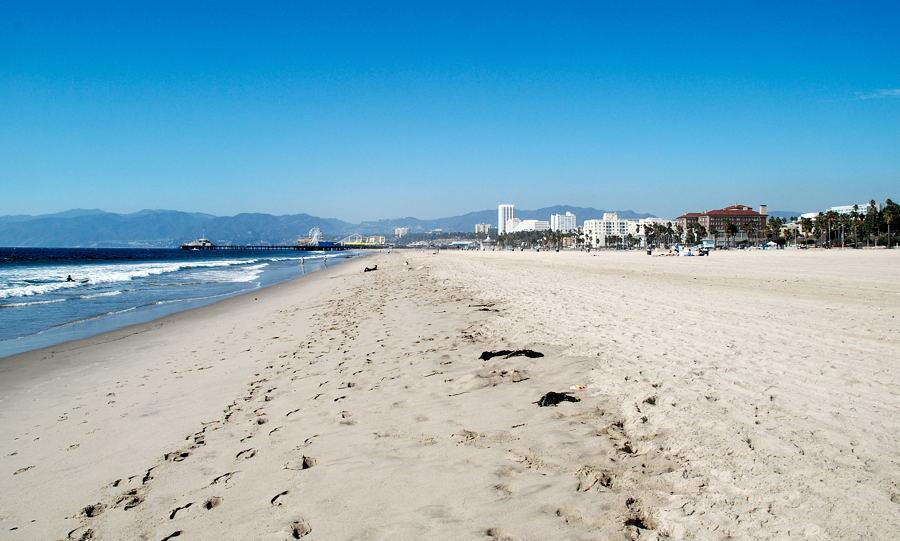 лос анджелес фото пляж видны очертания возбуждает