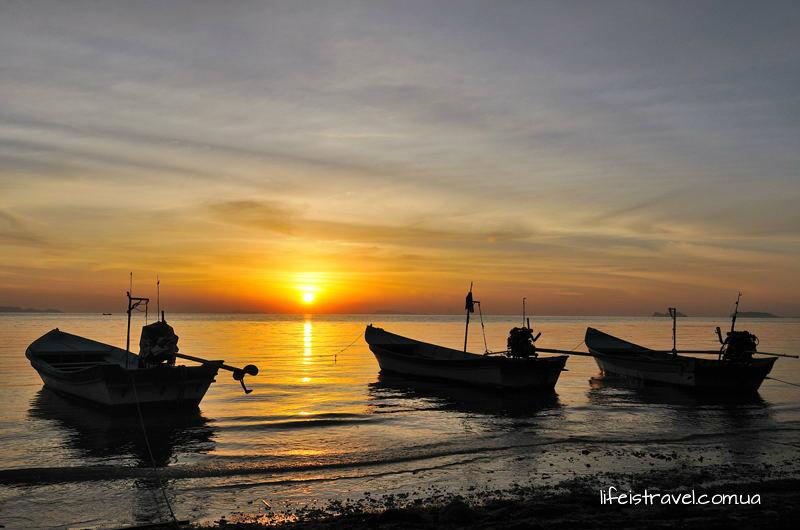 закатный пляж Хаад Рин Ной, Панган
