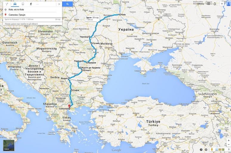 Avtomobilnyj Marshrut Ukraina Kiev Saloniki Greciya